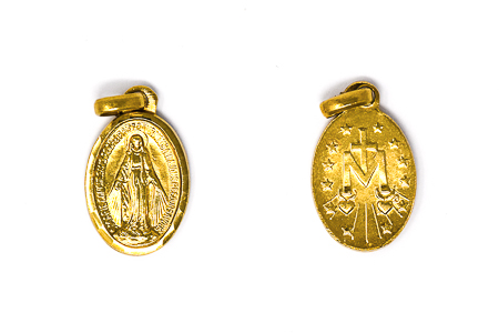 Our Lady of Grace Gold Miraculous Medal.