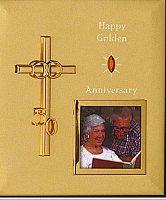 Photo Frame Golden Wedding Anniversary.