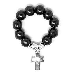 Hematite Rosary Ring.