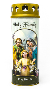 Holy Family Candle.