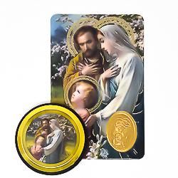 Holy Family Car Magnet & Prayer Card.
