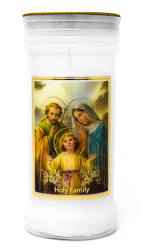 Holy Family Pillar Candle.