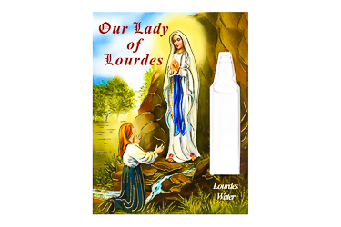 Lourdes Card and Holy Water Vial.