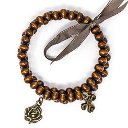 Wooden Memory Wire Bracelet.