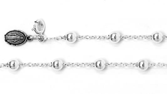 925 Miraculous Medal Rosary Bracelet.