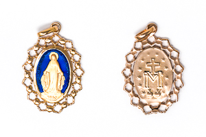 Gold Plated Miraculous Medal.