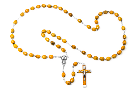 Miraculous Olive Rosary Beads.