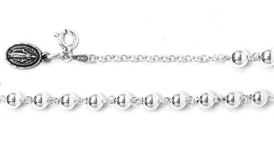 925 Miraculous Rosary Bracelet.