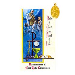 Communion Medal and Leaflet.