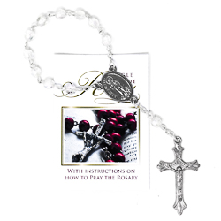 Handheld Glass Crystal Rosary.