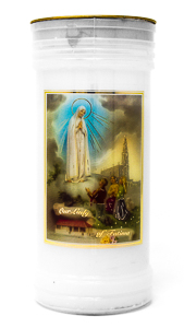 Our Lady of Fatima Pillar Candle.