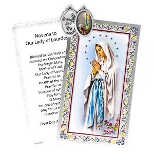 Prayer Card to Our Lady of Lourdes.