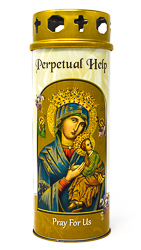 Perpetual Help Candle.