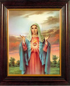 Framed picture Immaculate Heart of Mary.