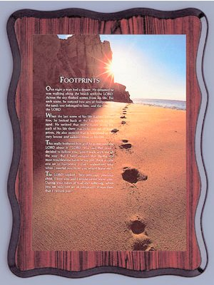 Picture - Footprints in the Sand.