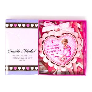 Pink Baby Crib Medal.