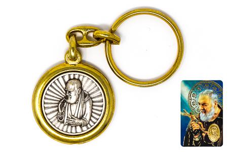 Saint Pio Key Chain.