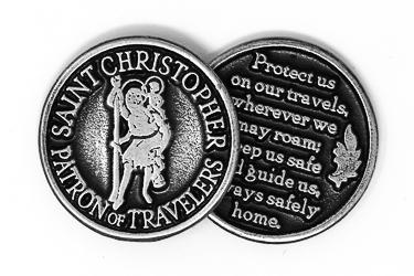 Pewter Pocket St.Christopher.