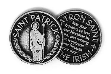 Pewter Pocket St Patrick.