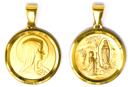 18ct Our Lady & Apparition Pedant