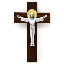 Risen Christ with Metal Crucifix .