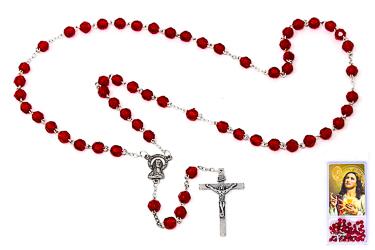 Sacred Heart of Jesus Acrylic Rosary.