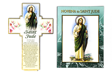 Saint Jude Novena Booklet & Wooden Cross.
