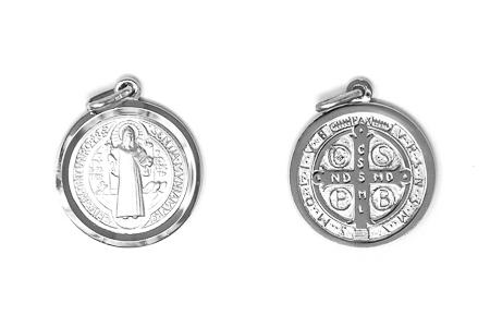 925 Sterling Silver St Benedict Medal.