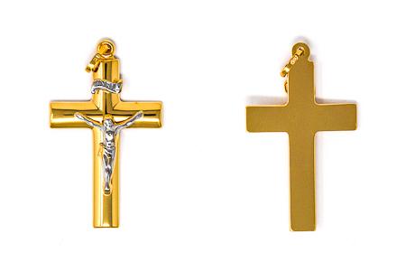 Solid Gold Crucifix.