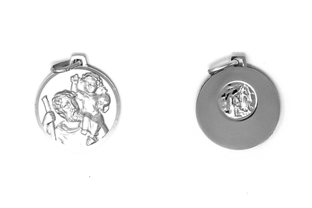 Silver St.Christopher Pendant.