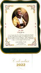 St.Pio 2022 Calendar.