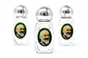 3 Glass St Pio Bottles.