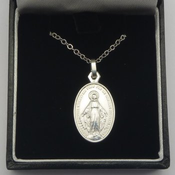 925 Miraculous Medal Necklace.