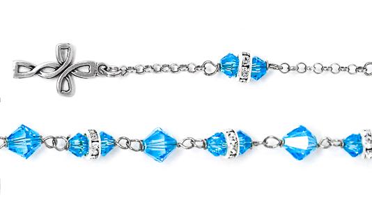925 Swarovski Crystal Rosary Bracelet.