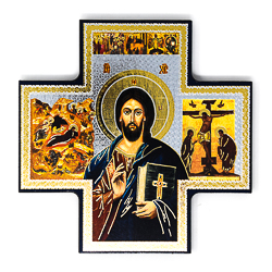Gold Foil Christ Teaching Wall Plaque.