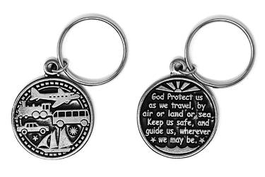 Travel Protection Key Ring.