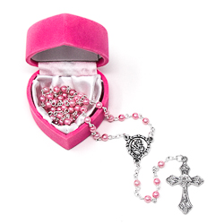 Baby Pink�Rosary Beads.