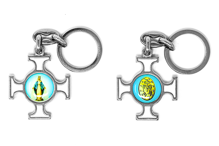 Miraculous Cross Key Chain.