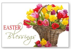 Wood Post A Plaque - Easter Blessings