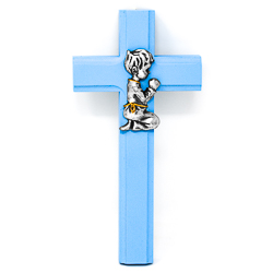 Blue Wood Cross.