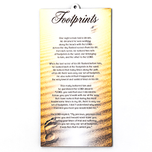 Wall Plaque -Footprints in the Sand