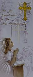 Granddaughter Communion Card.