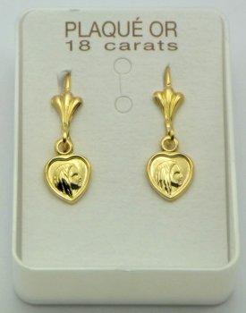 Virgin Mary Heart Earrings