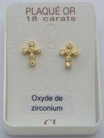 Gold Plated Cross Earrings.