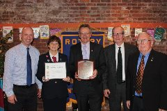 V-F Rotary Honors Local Judge