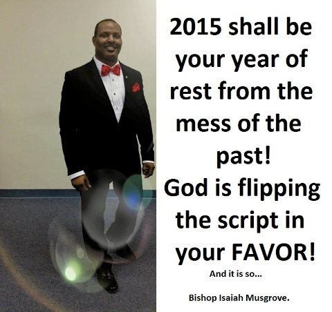 2015, YOUR YEAR OF REST!  12/2/14