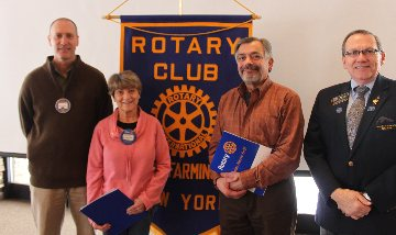 Victor - Farmington Rotary club inducted two new members