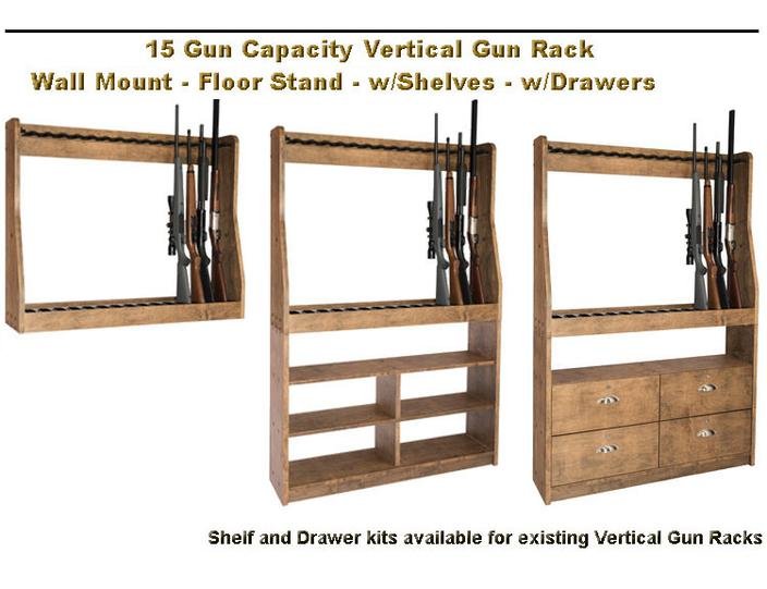 Vertical Gun Rack 15