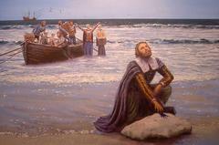 painting of Pilgrims first landing