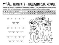 Halloween Decoder Message